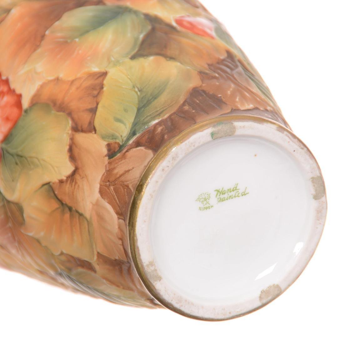 Nippon Blown Mold Vase - 3