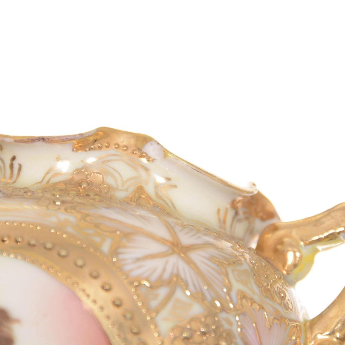 Pair Unmarked Nippon Two-Handled Vases - 3