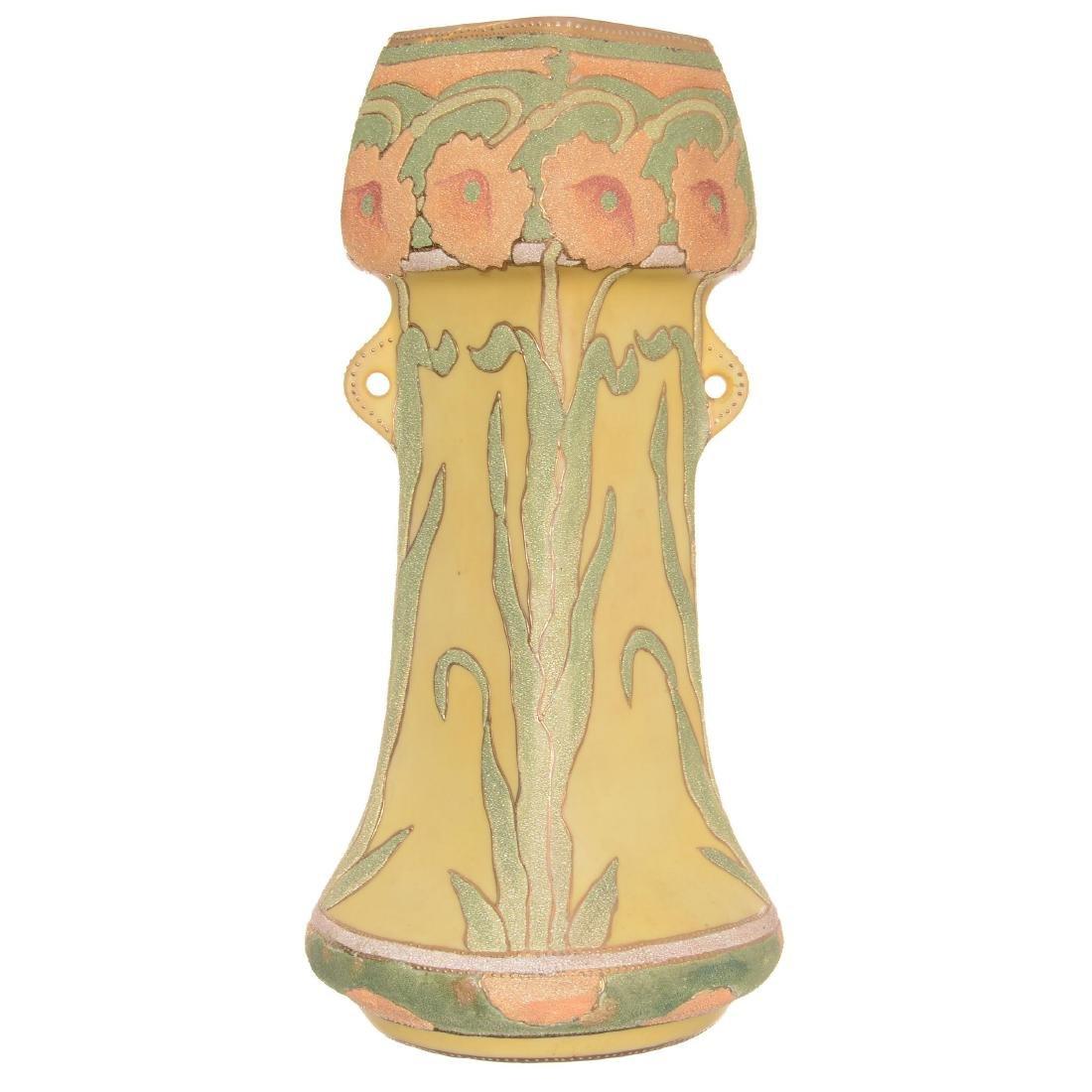 Marked Japan Vase with Coralene Overlay