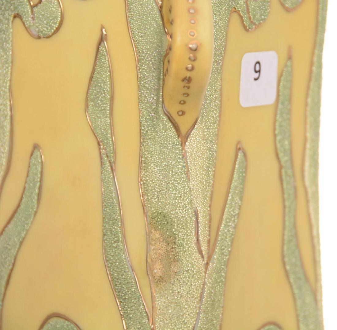 Marked Japan Vase with Coralene Overlay - 4