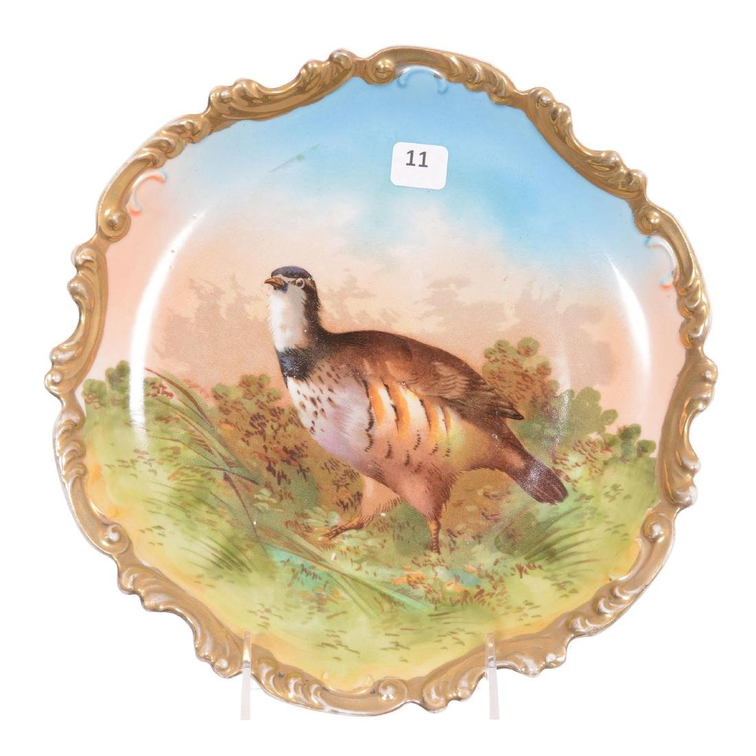 Unmarked German Game Plate