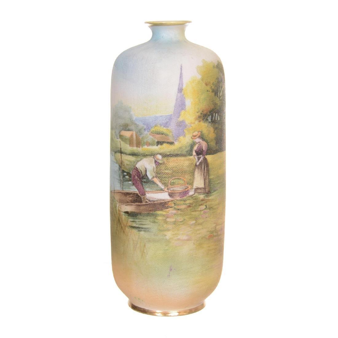 Nippon Tapestry Vase
