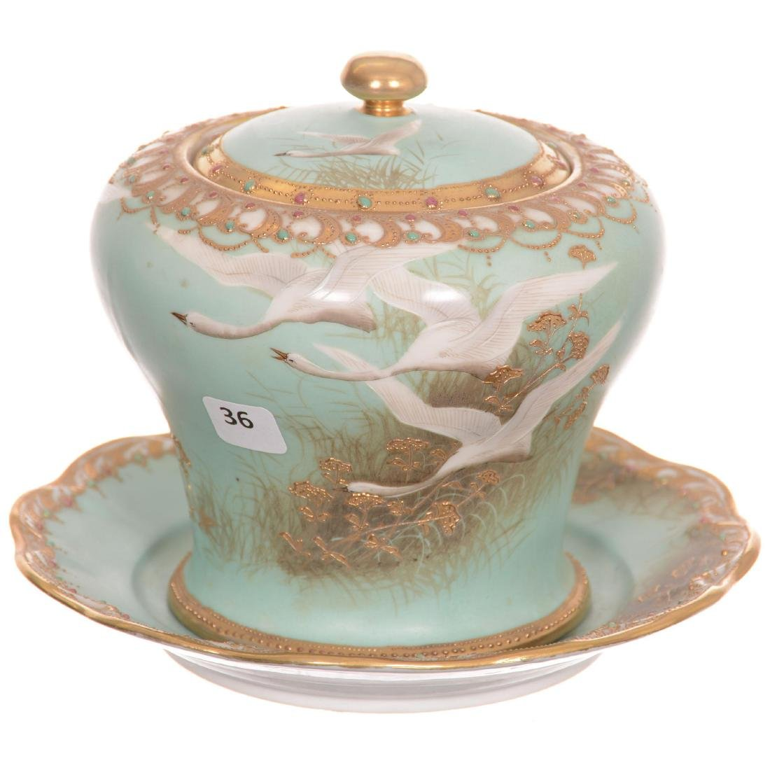 Nippon Biscuit Jar with Underplate