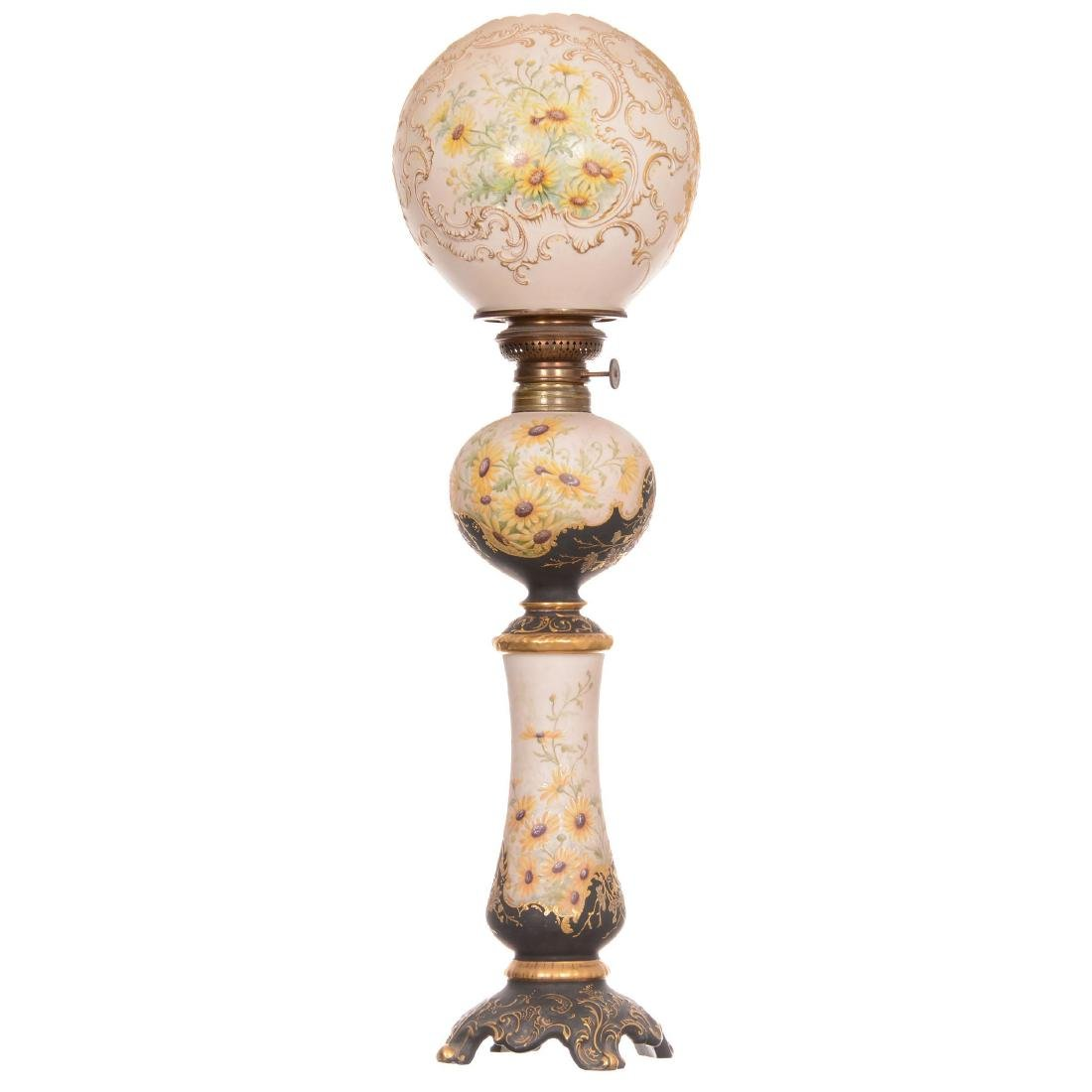 Extremely Rare Original Limoges Banquet Lamp