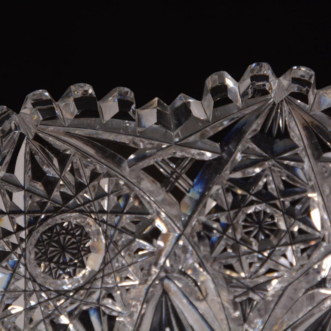 American Brilliant Cut Glass Round Tray - 2