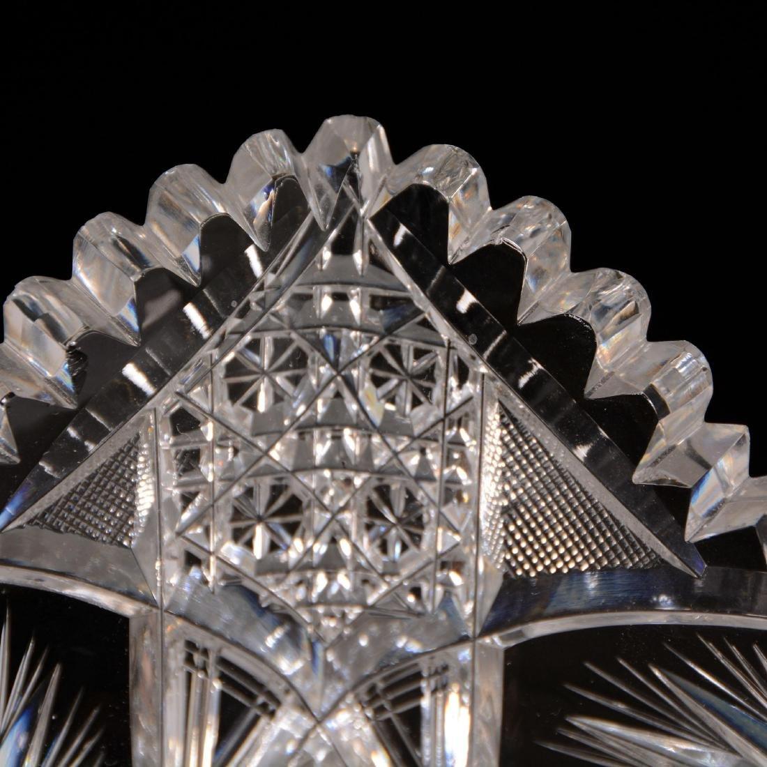American Brilliant Cut Glass Square Bowl - 2