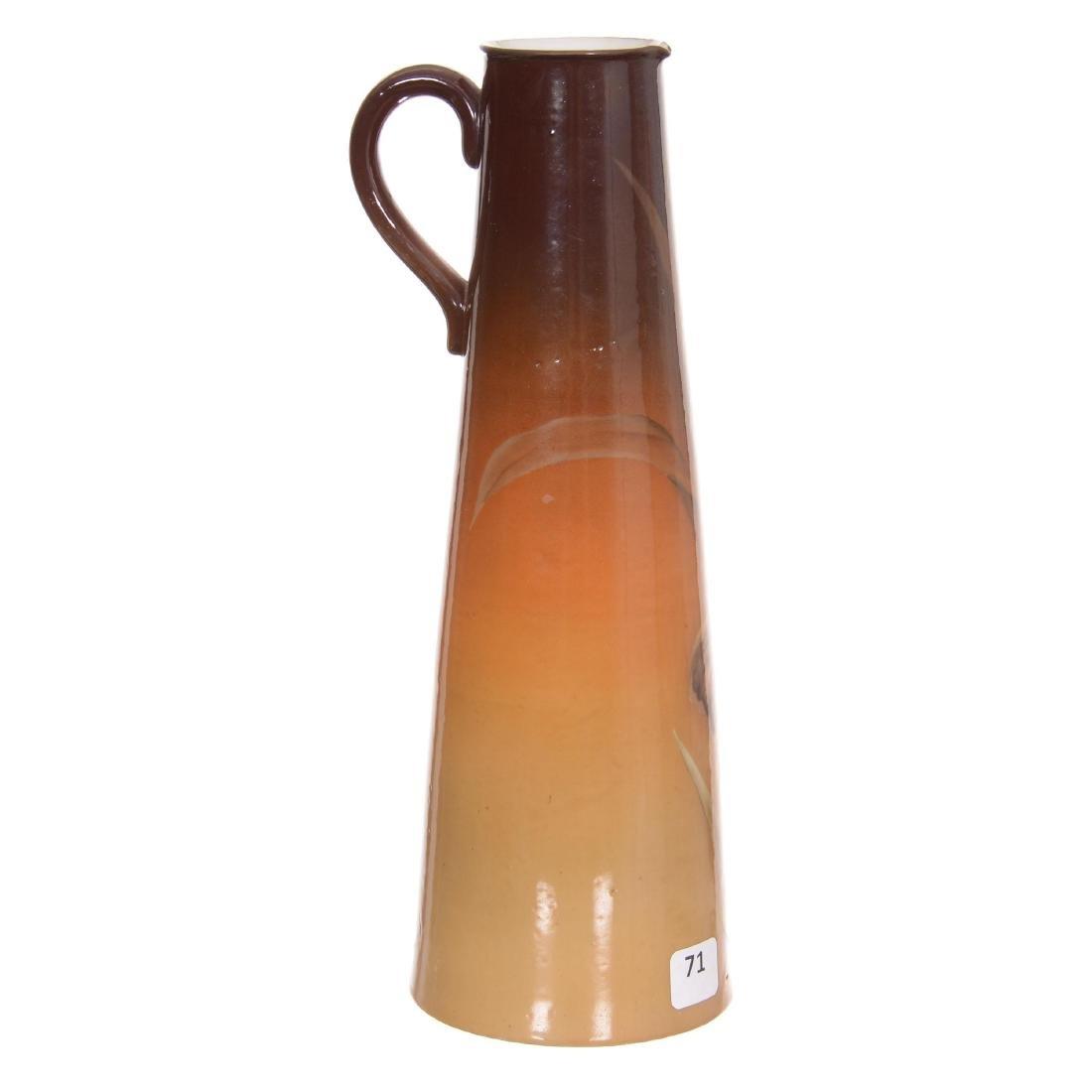 Handled Porcelain Tankard, Unmarked - 2