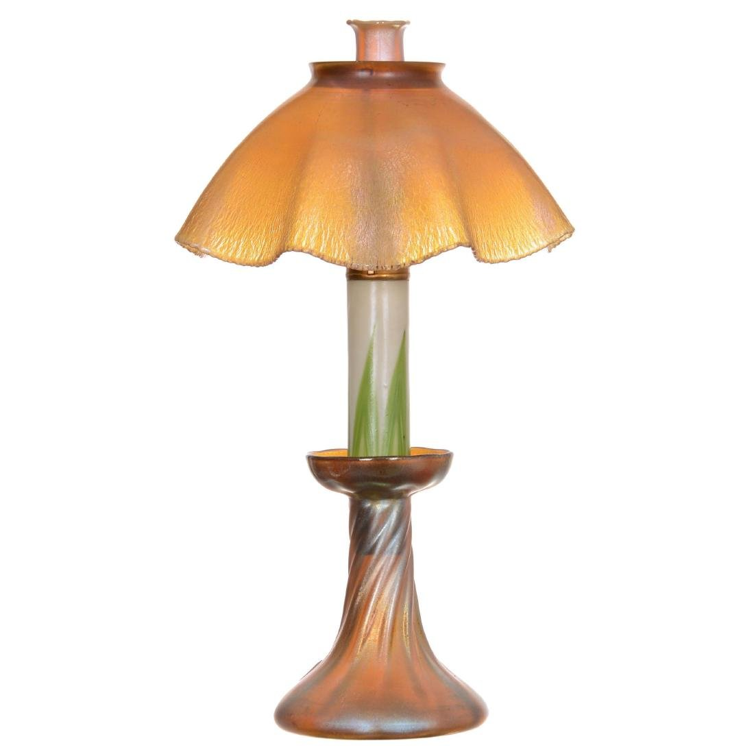 Very Rare Complete Tiffany Candle Lamp