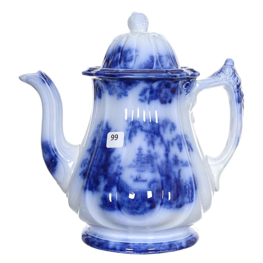 (6) Flow Blue Coffee Pot
