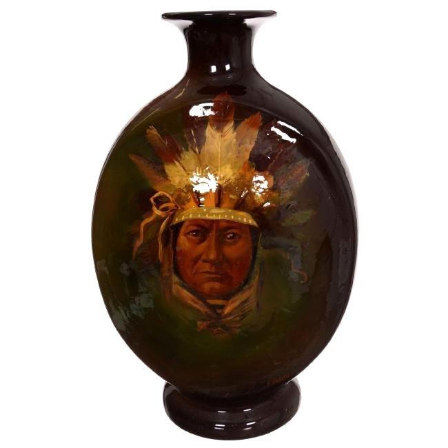 Unmarked Roseville Rozane Pottery Vase