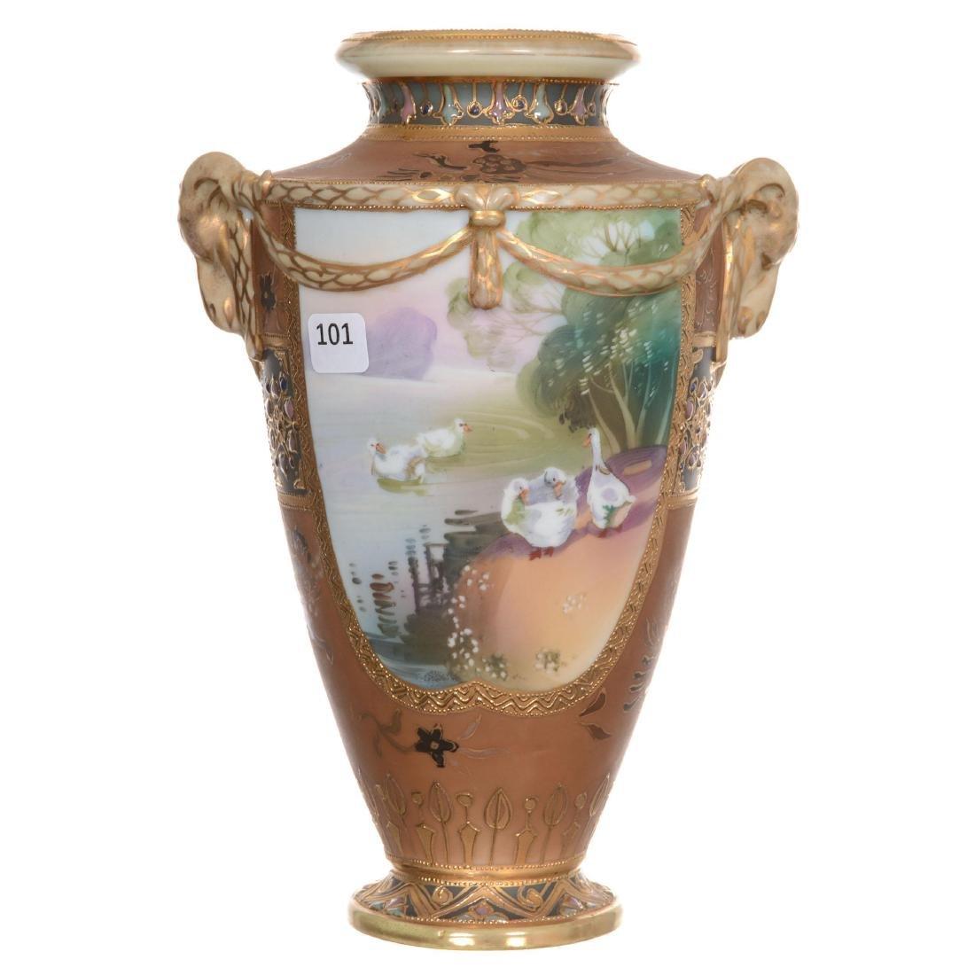Nippon Two-Handled Vase