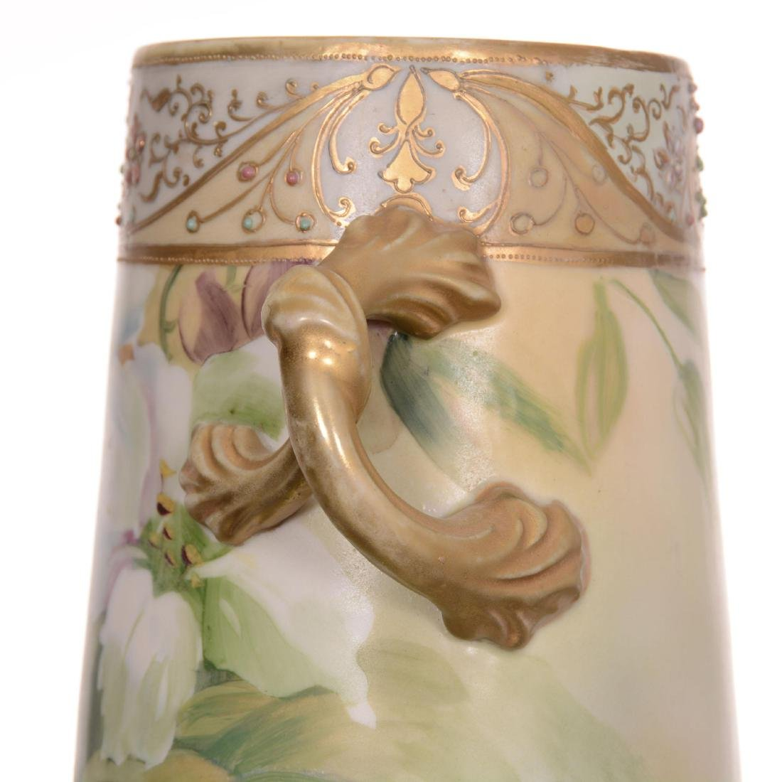 Nippon Three-Footed Two-Handled Vase - 4