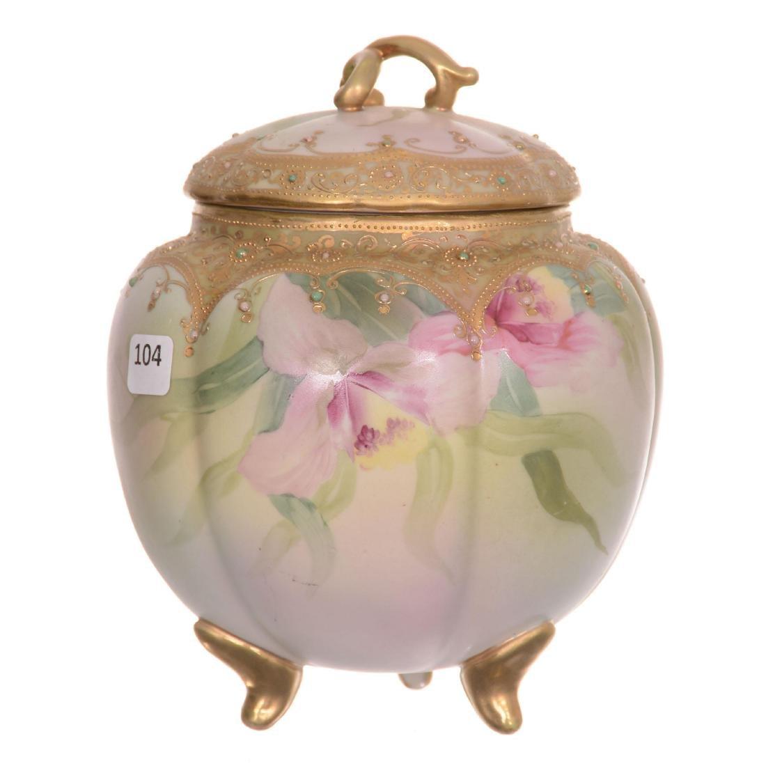 Nippon Three-Footed Biscuit Jar
