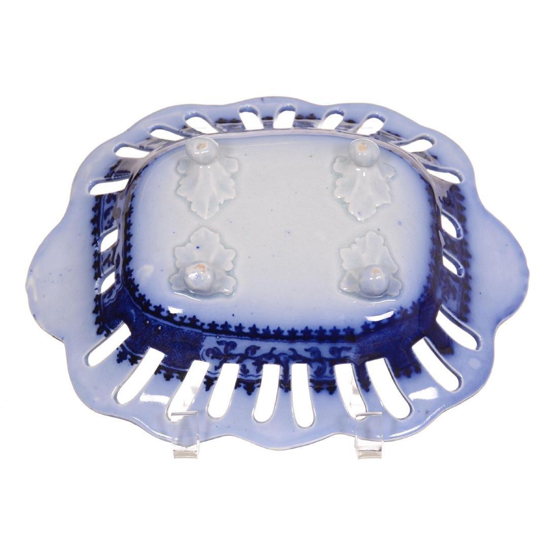 Flow Blue Pierced Bowl - 2