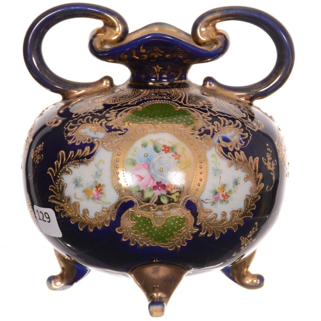 Nippon Four-Footed Two-Handled Vase