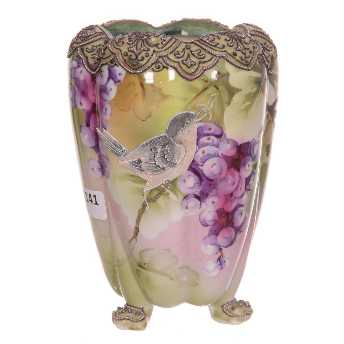Nippon Three-Footed Vase