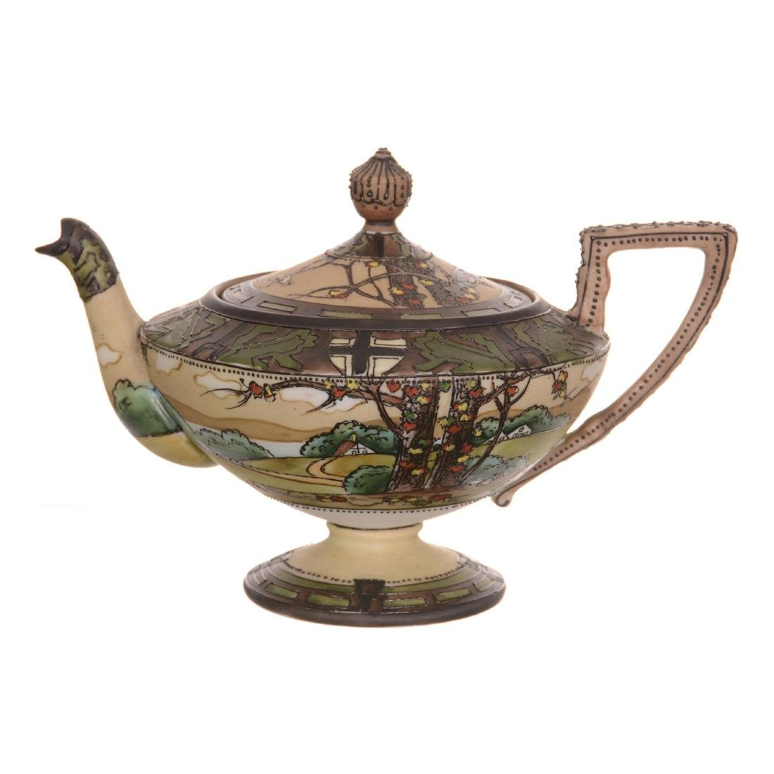 Nippon Pedestal Tea Pot