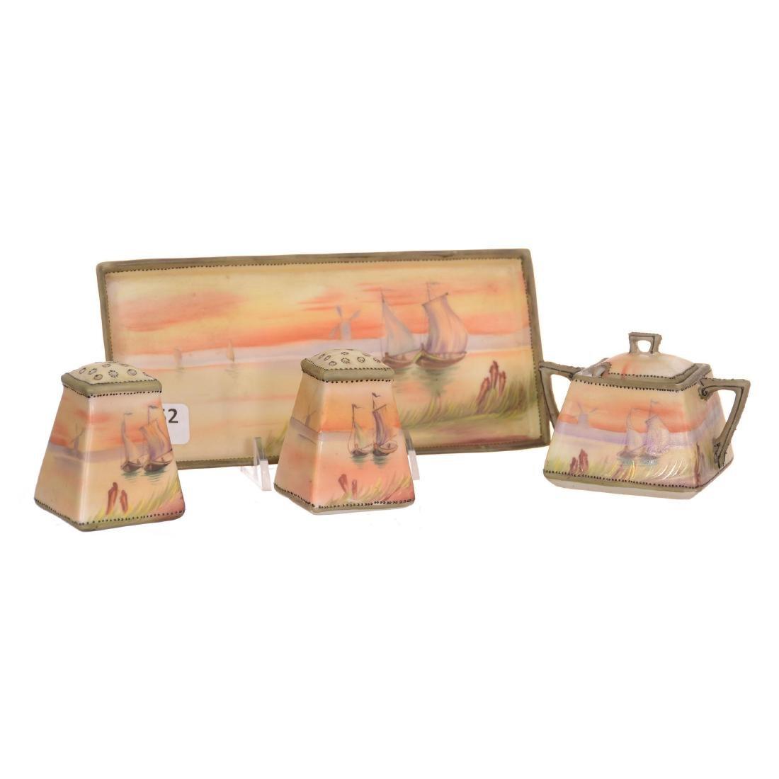 Four Piece Nippon Condiment Set
