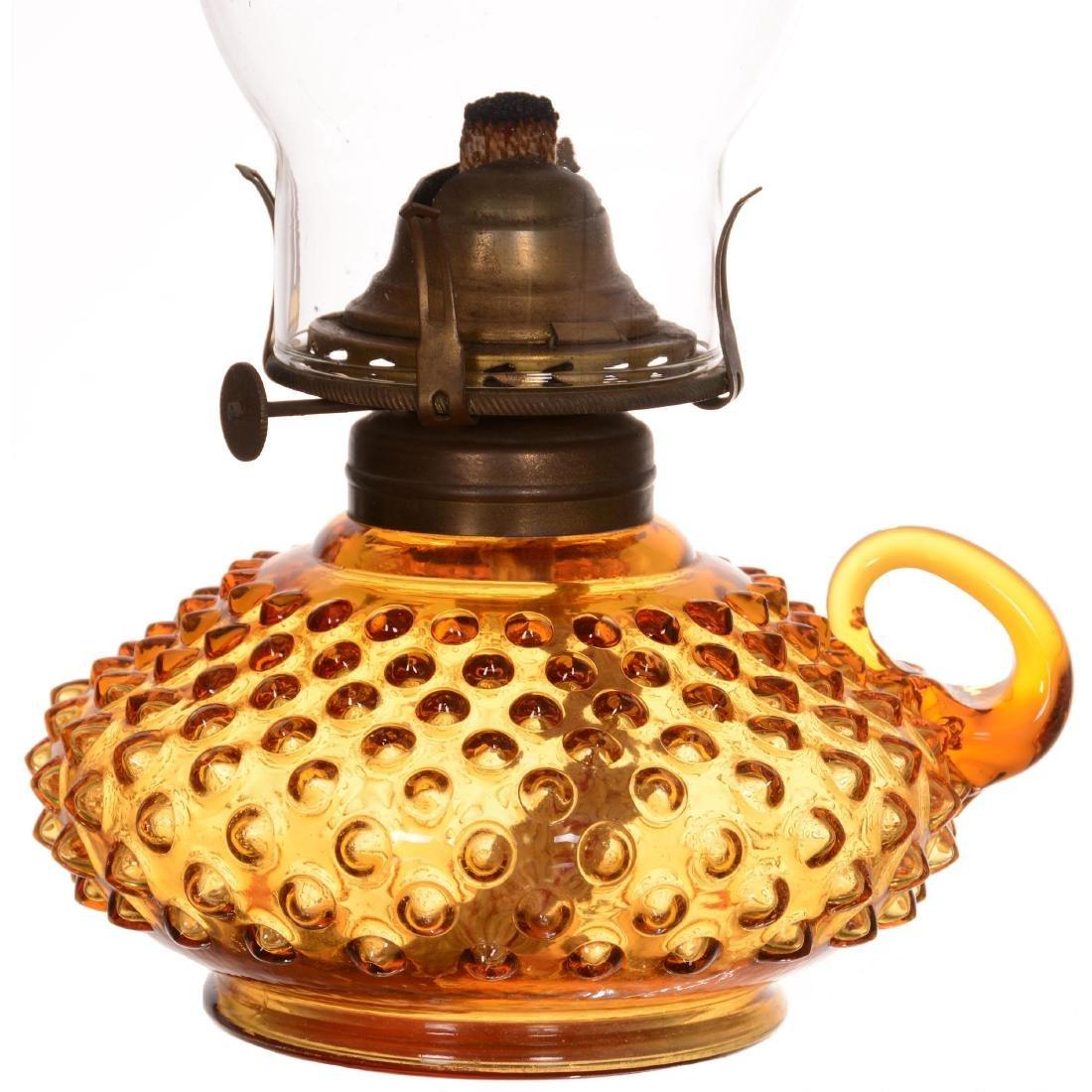 Pattern Glass Kerosene Finger Lamp