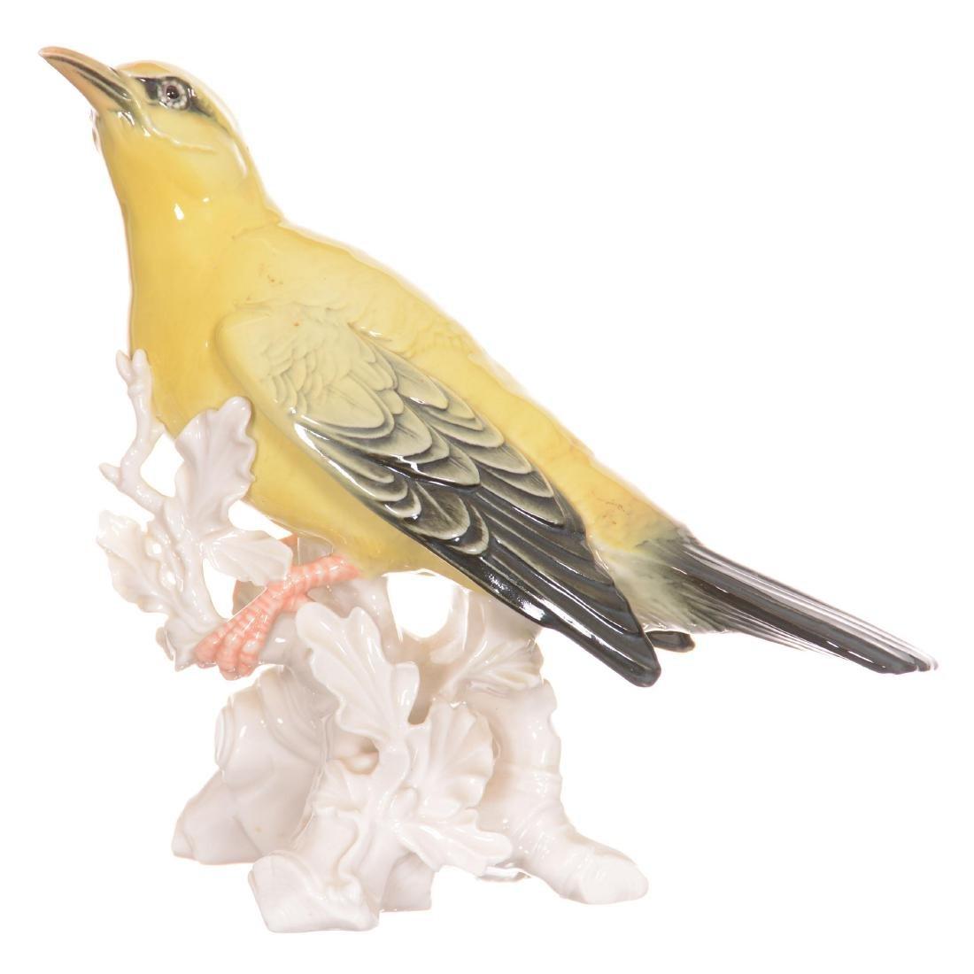 German Porcelain Bird Figure