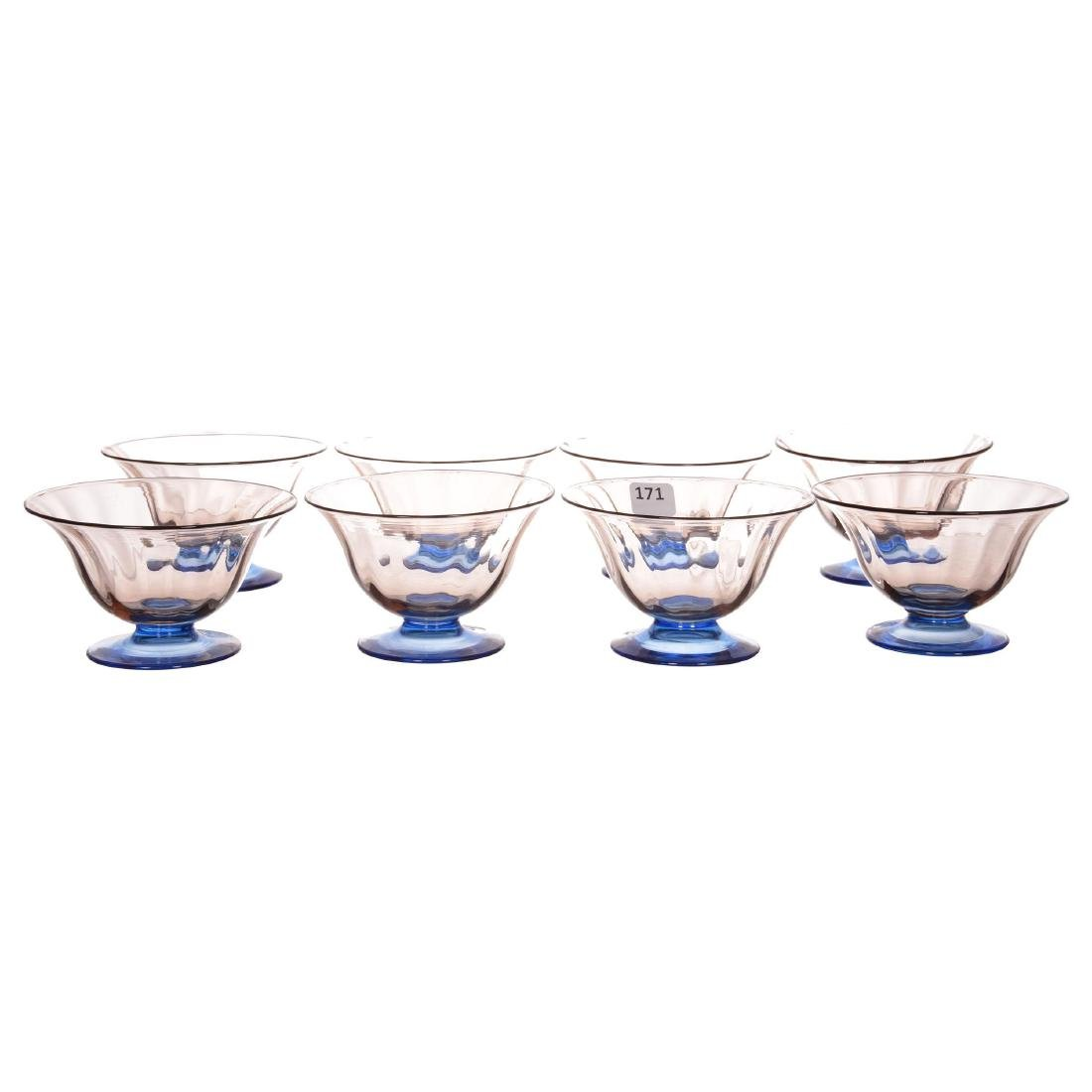 (8) Signed Steuben Art Glass Sherbets