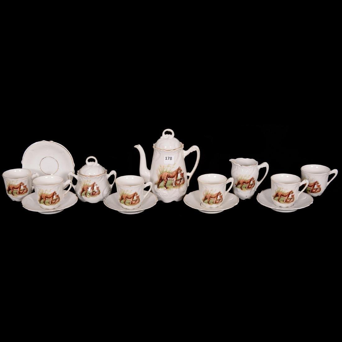 Rare Unmarked Germany Child's Tea Set