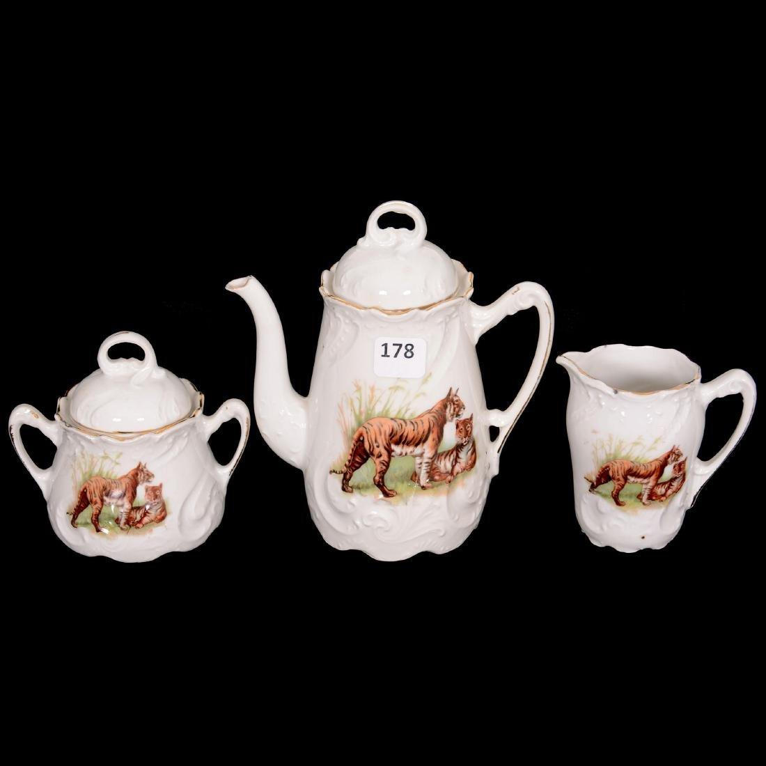 Rare Unmarked Germany Child's Tea Set - 2