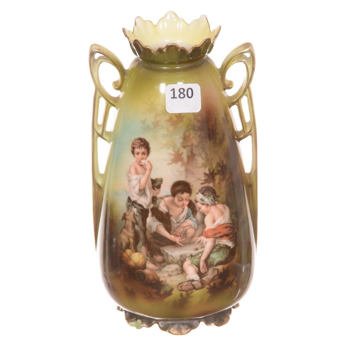 R.S. Prussia Two-Handled Vase