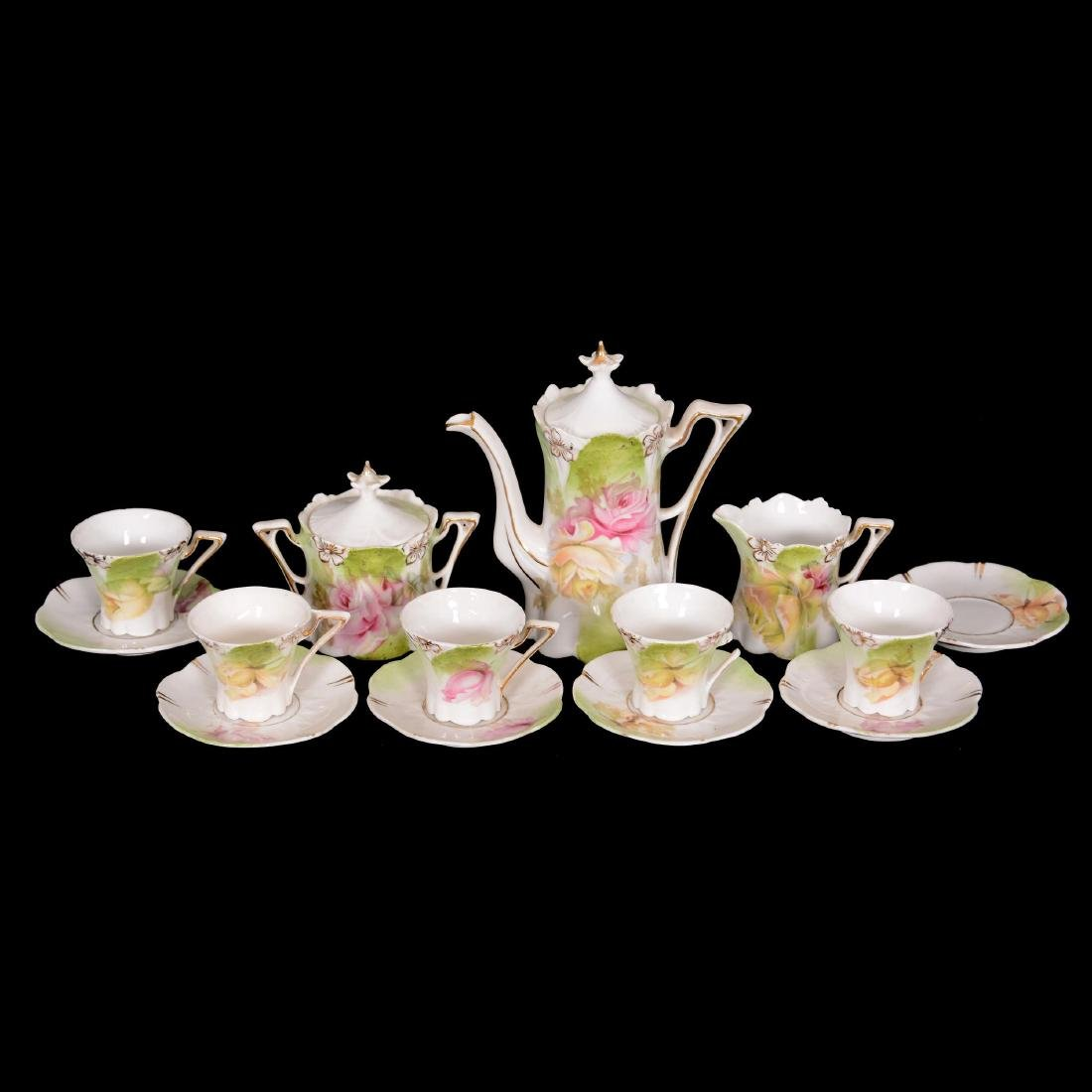 Unmarked R.S. Prussia Doll Tea Set