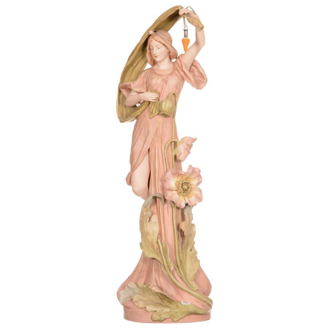 Royal Dux Figural Lamp