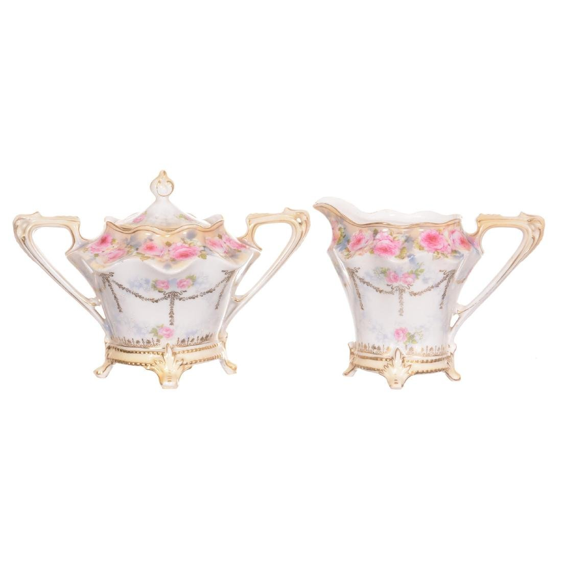 RSP Footed Creamer and Sugar