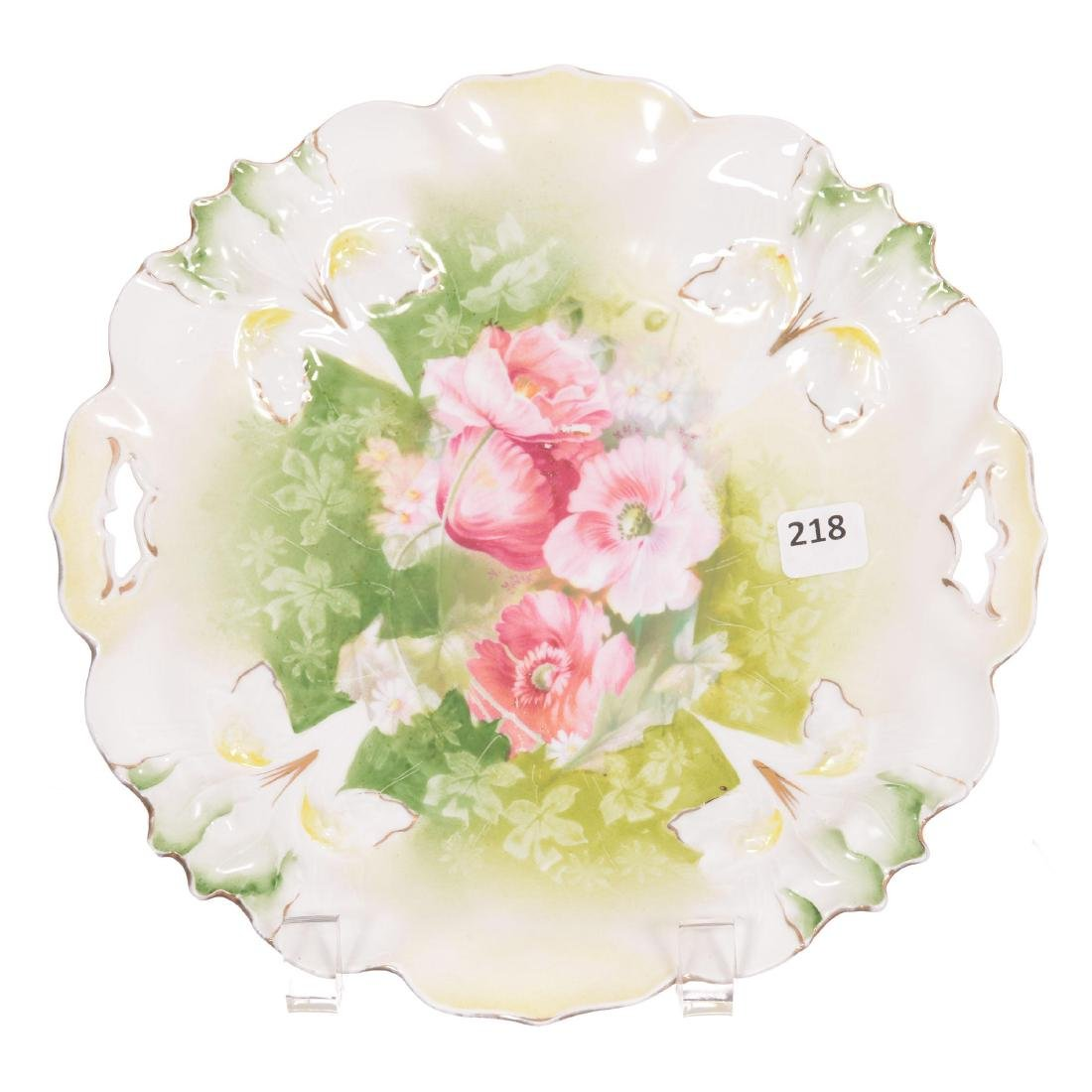 RSP Iris Mold Two-Handled Cake Plate