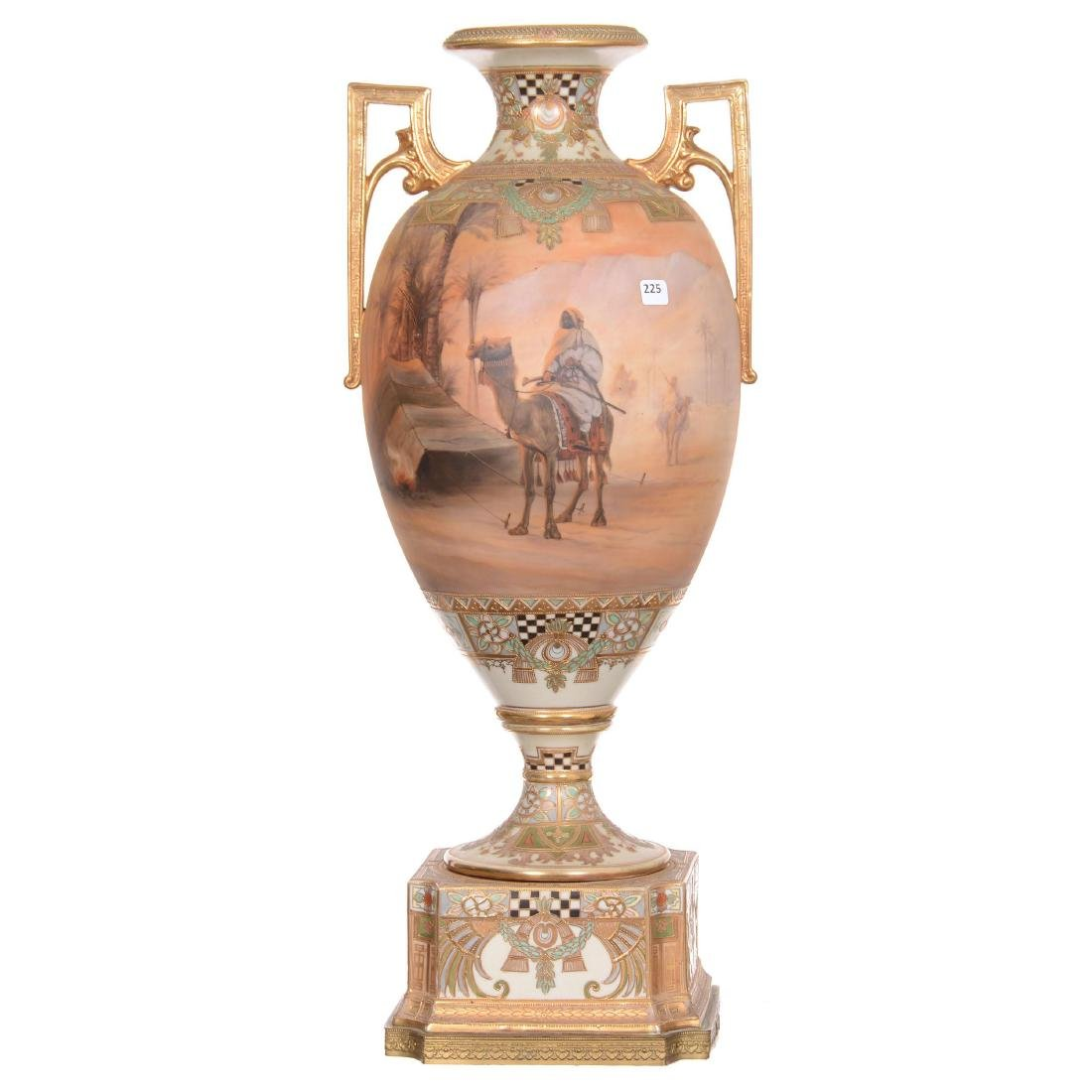 Massive Unmarked Nippon Two-Handled Urn