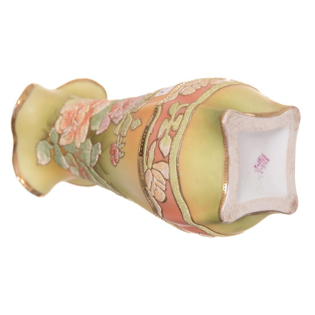 Marked Kinran Japan Coralene Vase - 3
