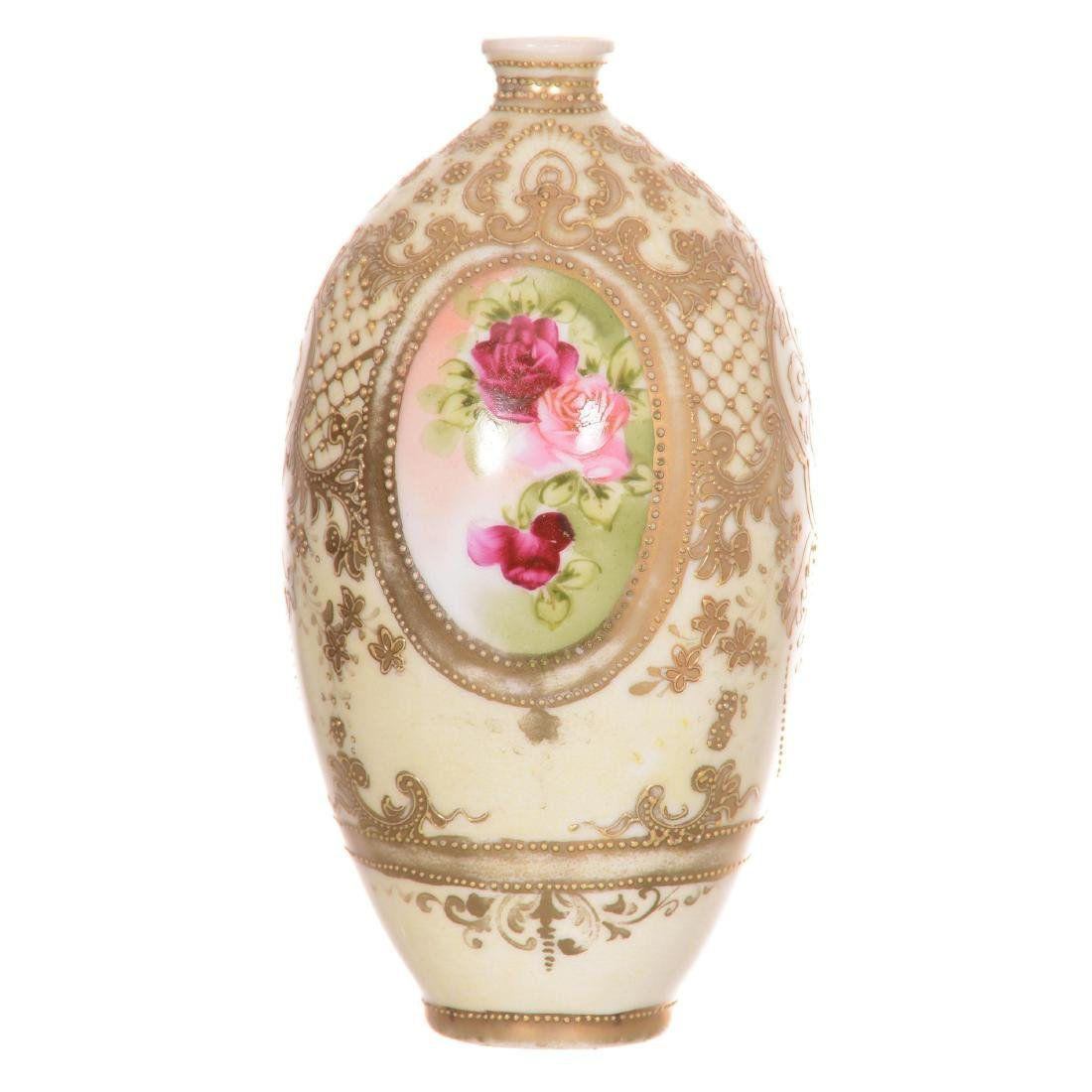 Unmarked Nippon Style Vase - 2