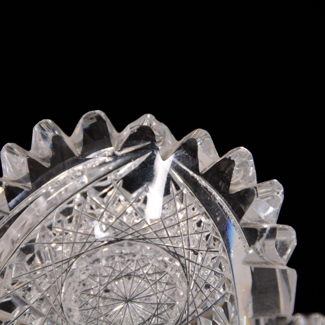 American Brilliant Cut Glass Triangular Dish - 2