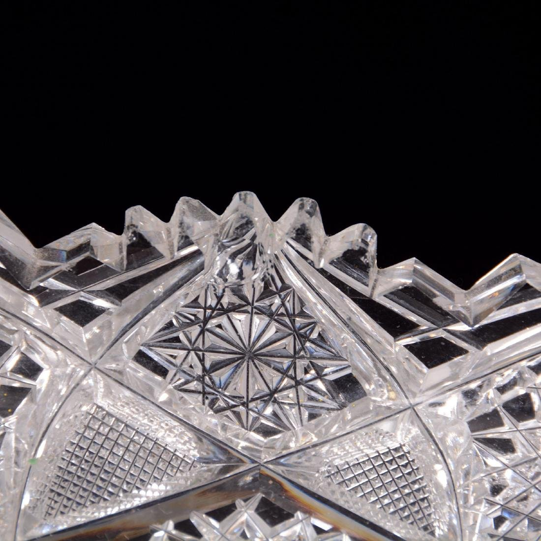 American Brilliant Cut Glass Triangular Dish - 3
