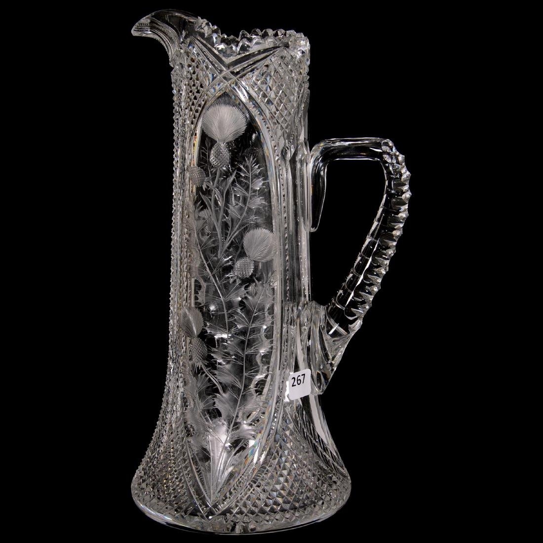 American Brilliant Cut Glass Tankard