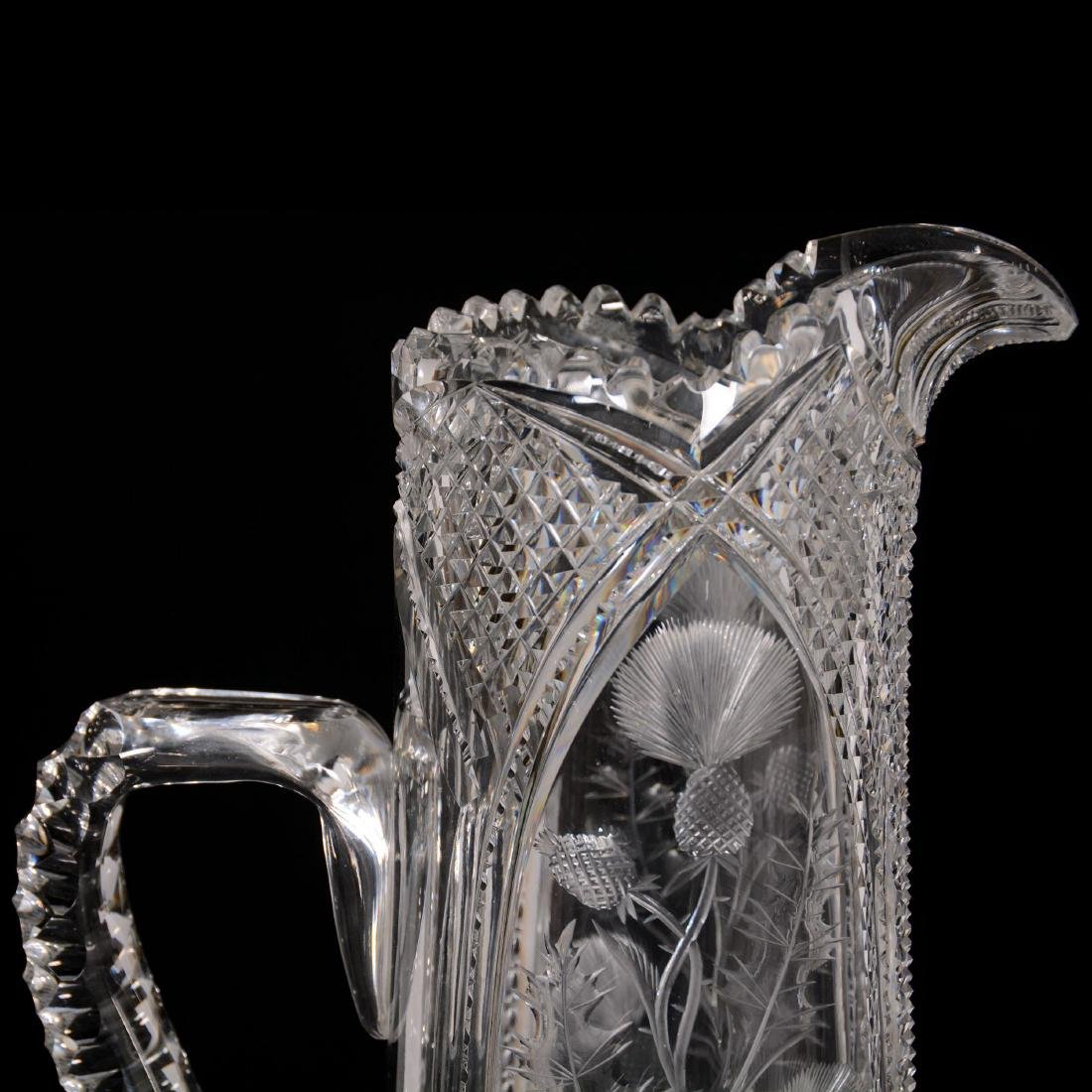 American Brilliant Cut Glass Tankard - 3