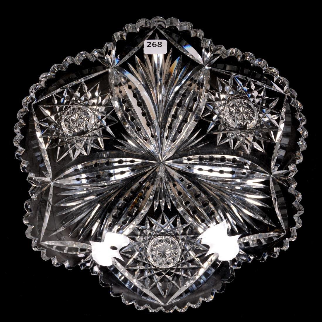 American Brilliant Cut Glass Round Tray