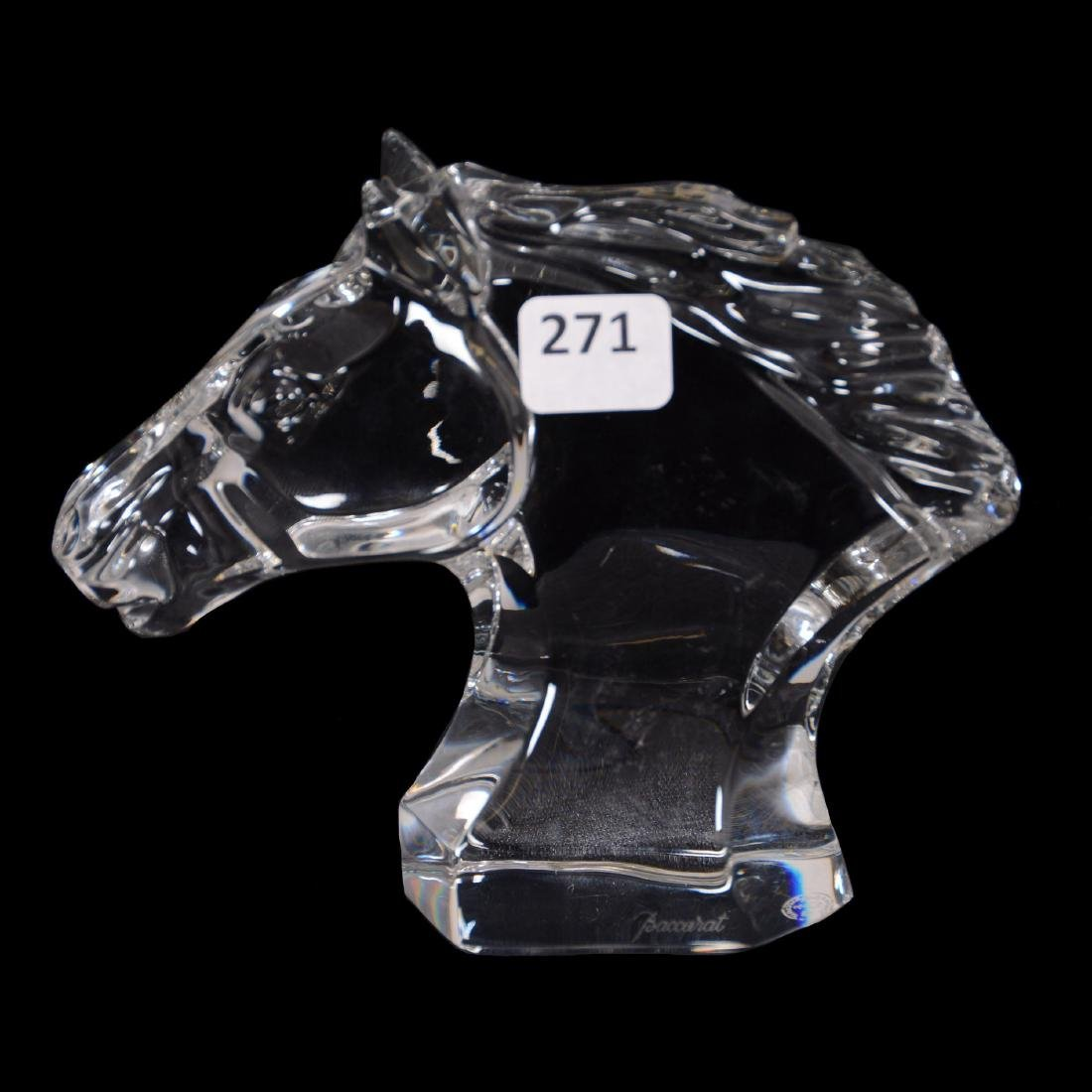 Marked Baccarat Horse Figure
