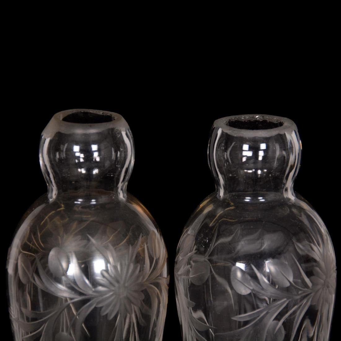 Pair Cut Glass Vases - 2