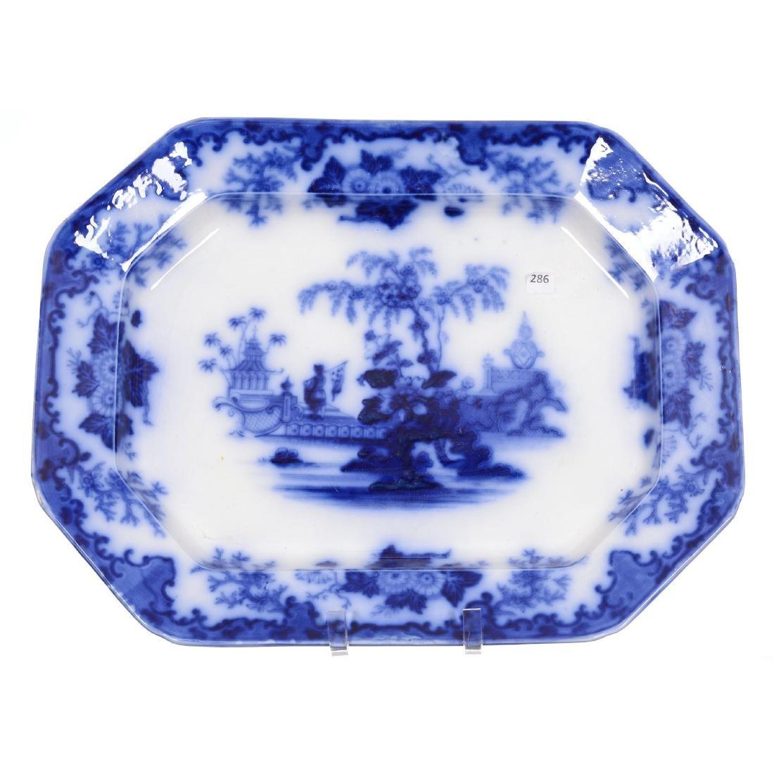 Flow Blue Scinde Pattern Tray