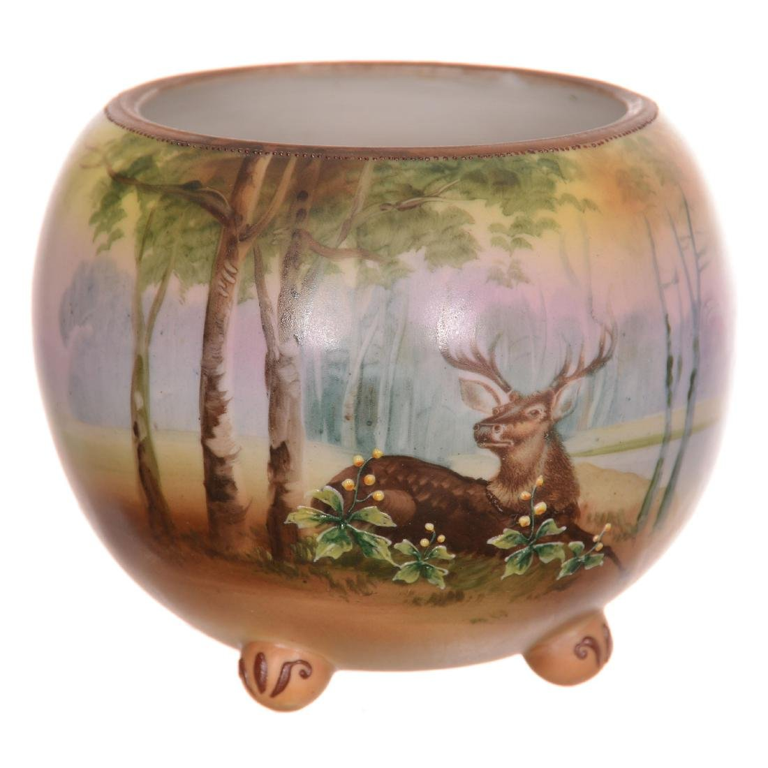 Nippon Footed Ball Vase