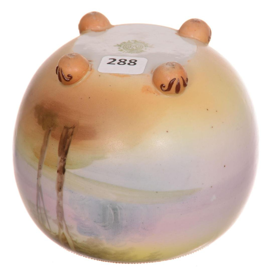 Nippon Footed Ball Vase - 2