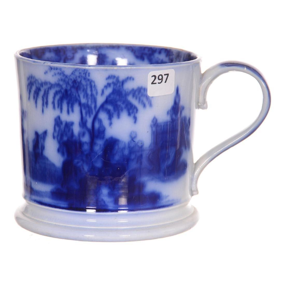 """Flow Blue Scinde Pattern """"Plantation Size"""" Mug"""