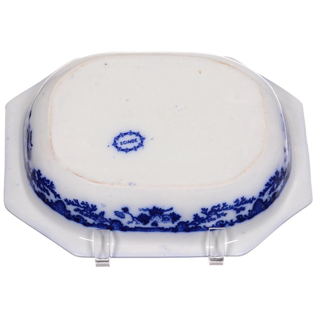 Flow Blue Scinde Pattern Vegetable Dish - 2