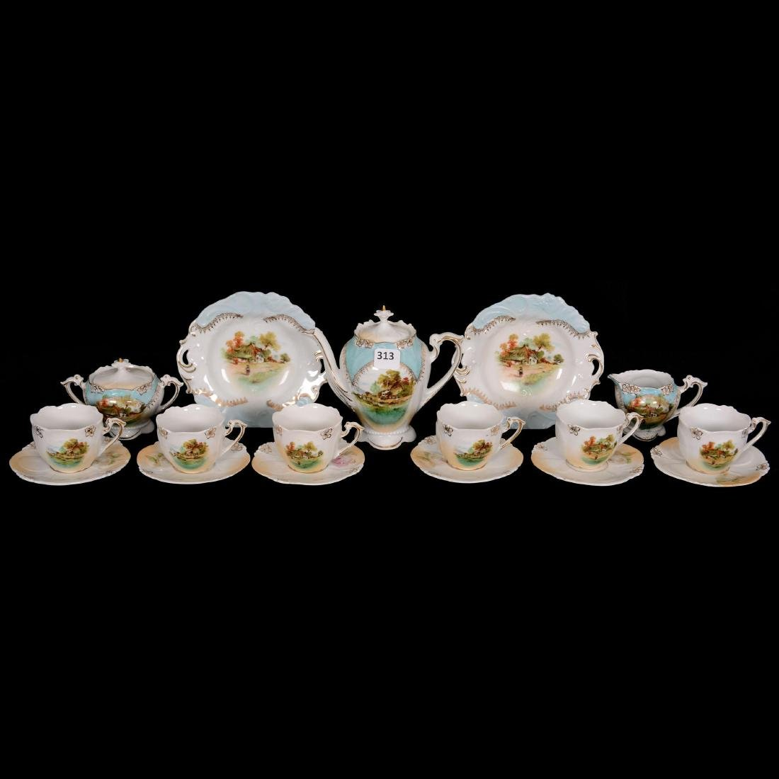 Unmarked R.S. Prussia Child's Tea Set