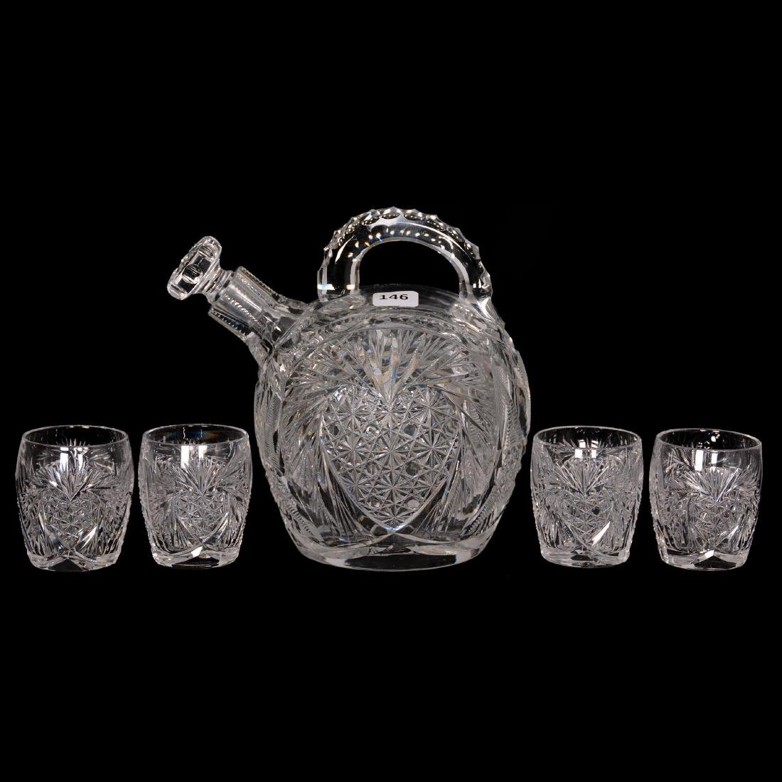 Rum Jug and (4) Shot Glasses - ABCG