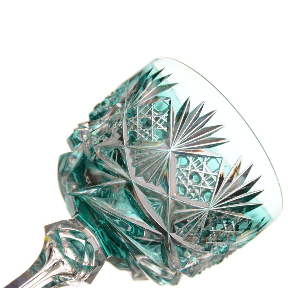 Turquoise Cut to Clear Wine - ABCG - 2